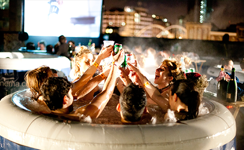 Hot Tub Cinemas in London, New York, and Australia