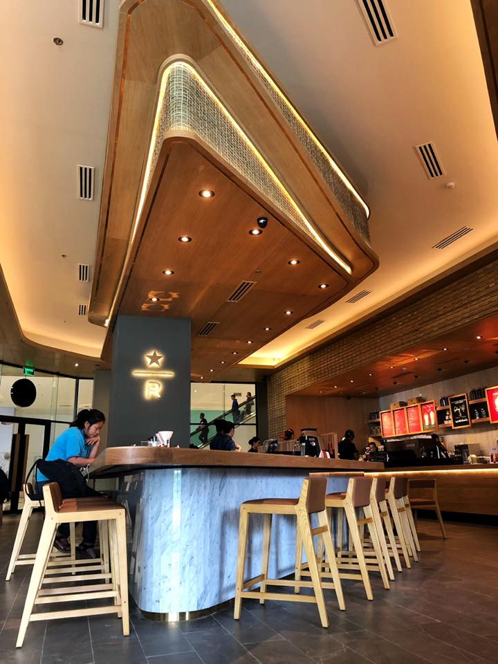 Beautiful Starbucks branch - Starbucks Reserve Ayala Malls Manila Bay