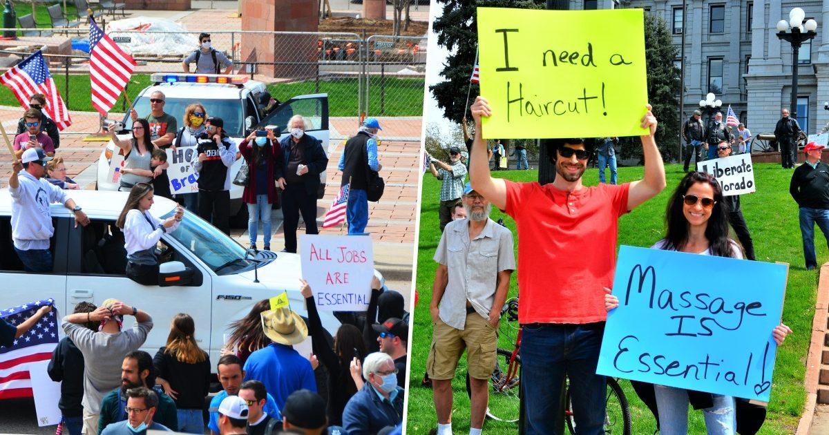 Americans Protesting Lockdown