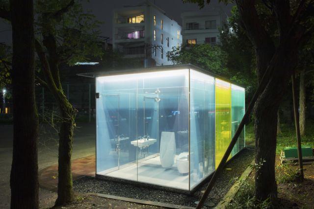 Transparent Public Toilets in Japan