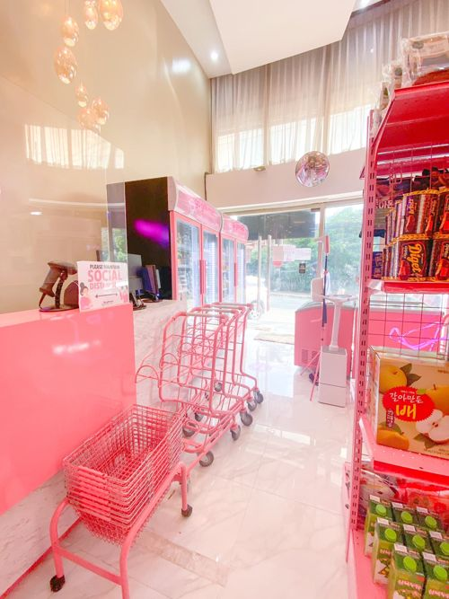 Go Grill Mart Pink Grocery Store