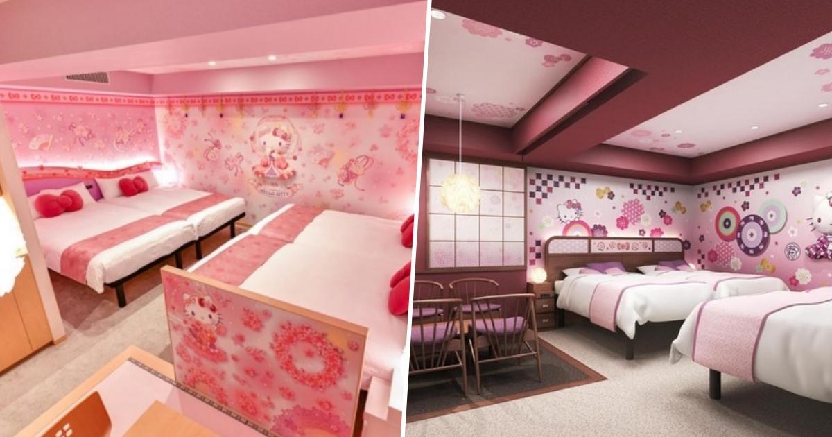 hello kitty themed hotel rooms