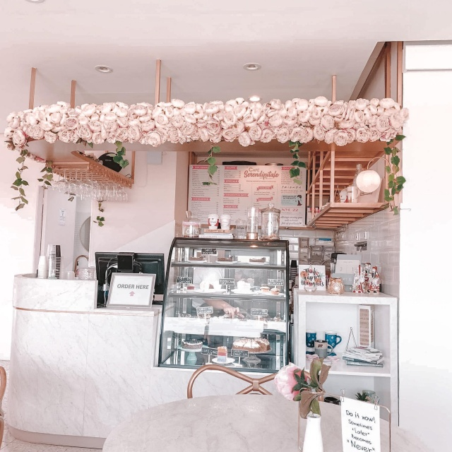 Cafe Serendipitale Counter Area with Cakes