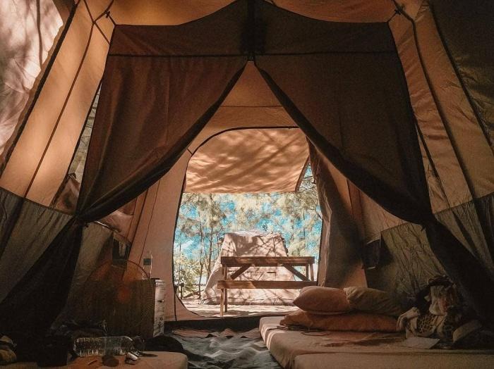 Crystal Beach Resort tent