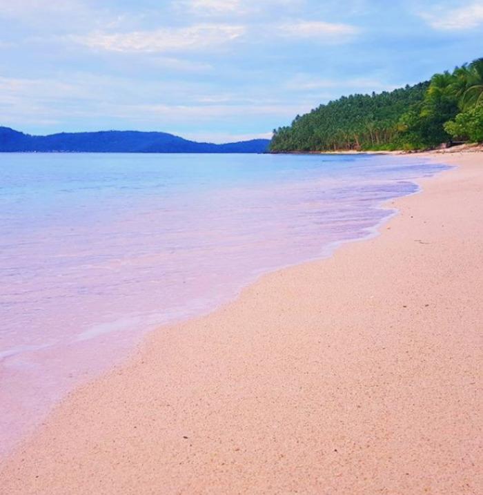 pink beach Northern Samar