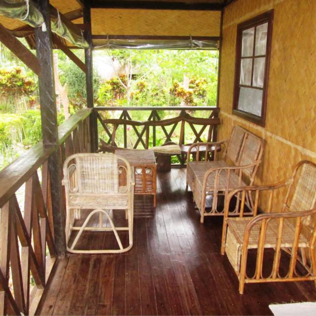 Las Cabanas Resort wicker and wood furnishings